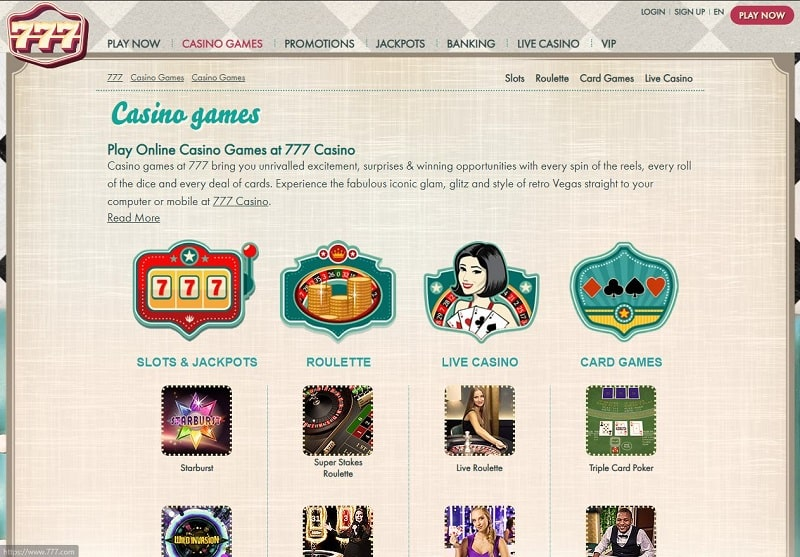 777 Casino Online Review